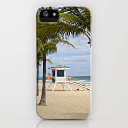 Fort Lauderdale Beach Lifeguard cabin iPhone Case