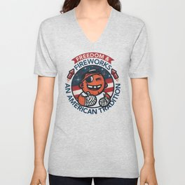 Fun with Fireworks Unisex V-Neck