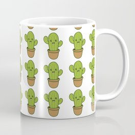 Can't Touch This Cute Happy Smiling Cactus Coffee Mug