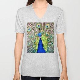 Proud Peacock Unisex V-Neck
