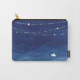 night sky, ocean painting Carry-All Pouch