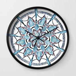 One Lazy Sunday - Blue Version Wall Clock