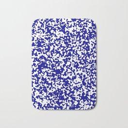 Small Spots - White and Dark Blue Bath Mat