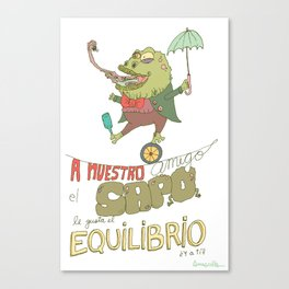 My friend the Toad Canvas Print