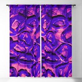 Neon Pink & Purple Rubber Bands Blackout Curtain