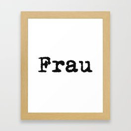 German Wife Framed Art Print
