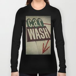 Retro Car Wash Sign Long Sleeve T-shirt
