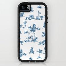 Blue Toile Unicorn iPhone (5, 5s) Adventure Case