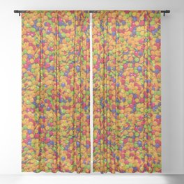 Sour Candy Buttons. Real Candy Pattern Sheer Curtain