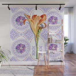 Gothic Revival Daylily Lace Wall Mural