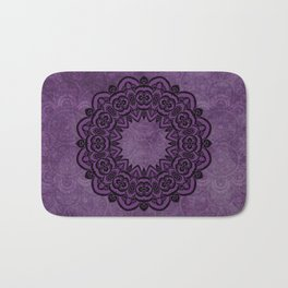 Circle in Purple Bath Mat