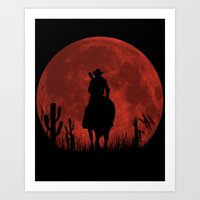 red dead redemption Art Prints featuring John Marston - Red Dead Redemption by TxzDesign