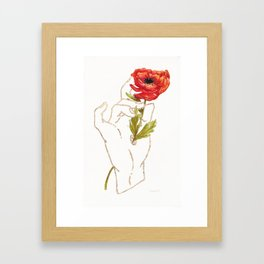 Poppy - Gold (Gilded Hands Series) Framed Art Print