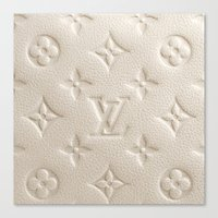 lv Canvas Prints featuring Cream LV by I Love Decor