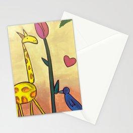 Giraffe Tulip Bluebird Stationery Cards