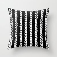 knit Throw Pillows featuring Knit 8 by Project M
