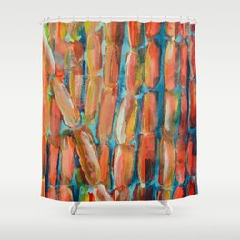Coral Night of Sugarcane Shower Curtain