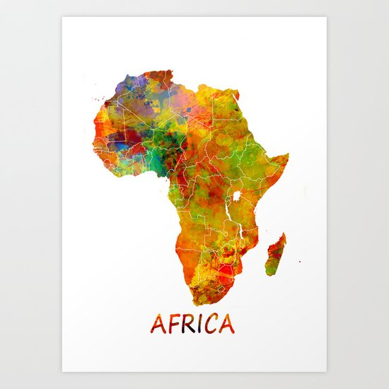 Africa map collection