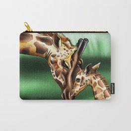 Nurturing Giraffes Carry-All Pouch