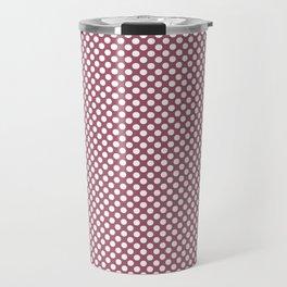 Rose Wine and White Polka Dots Travel Mug