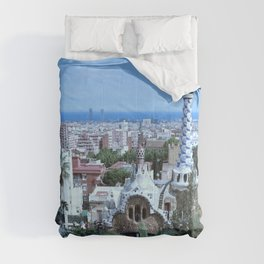 Barcelona View from Park Guell Costa Brava Comforters