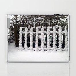 White snow picket fence  Laptop & iPad Skin