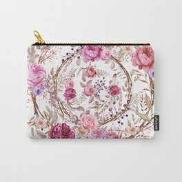 Bouquet of MOST Beautiful Vintage Rose - wreath Carry-All Pouch