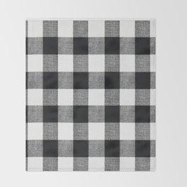 Black and White Buffalo Throw Blanket