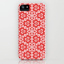 Red Pink and White Mini Mandala Abstract Flowing Floral Dotted Spirit Organic iPhone Case