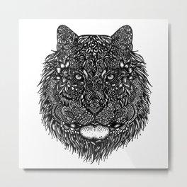 Lion Particles Metal Print