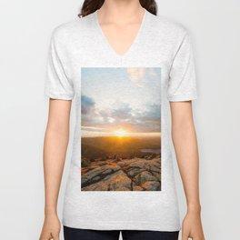 Cadillac Mountain Sunset Unisex V-Neck
