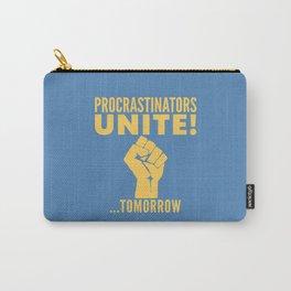 Procrastinators Unite Tomorrow (Blue) Carry-All Pouch