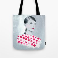 sandra dieckmann Tote Bags featuring Sandra by youdesignme
