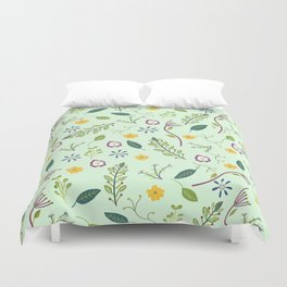 Floral Greenery Pattern I Duvet Cover