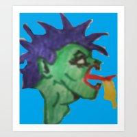 Ugly Monster Art Print