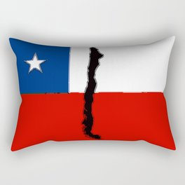 Chilean Flag with Map of Chile Rectangular Pillow