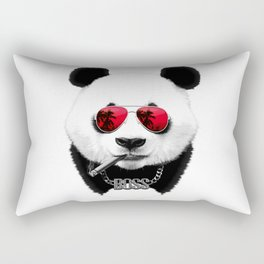 Panda Boss Rectangular Pillow