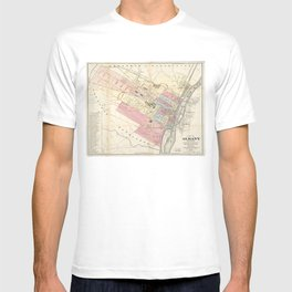 Vintage Map of Albany NY (1874)  T-shirt