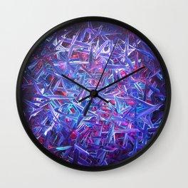 Blue Swipes  Wall Clock