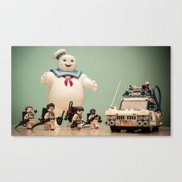 Marshmellow Man and Ghostbusters Canvas Print