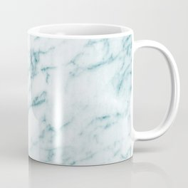 Ribbons of Aqua and White Marble Coffee Mug