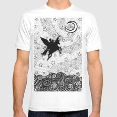 Flight of the alicorn Mens Fitted Tee LARGE White