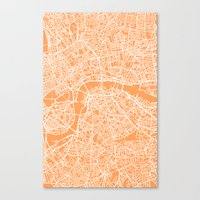 london map Canvas Prints featuring London Map by chiams