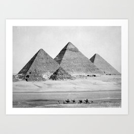 Pyramids of Gizeh Art Print