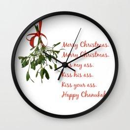 Merry Christmas. Kiss my ass. Wall Clock