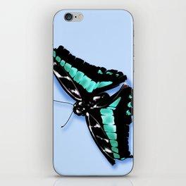 Papillon vert iPhone Skin
