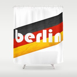Berlin, with flag colors Shower Curtain