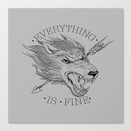 Everything is Fine Canvas Print