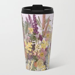 Pressed Flower English Garden Travel Mug