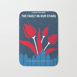 No340 My The Fault in Our Stars minimal movie poster Bath Mat